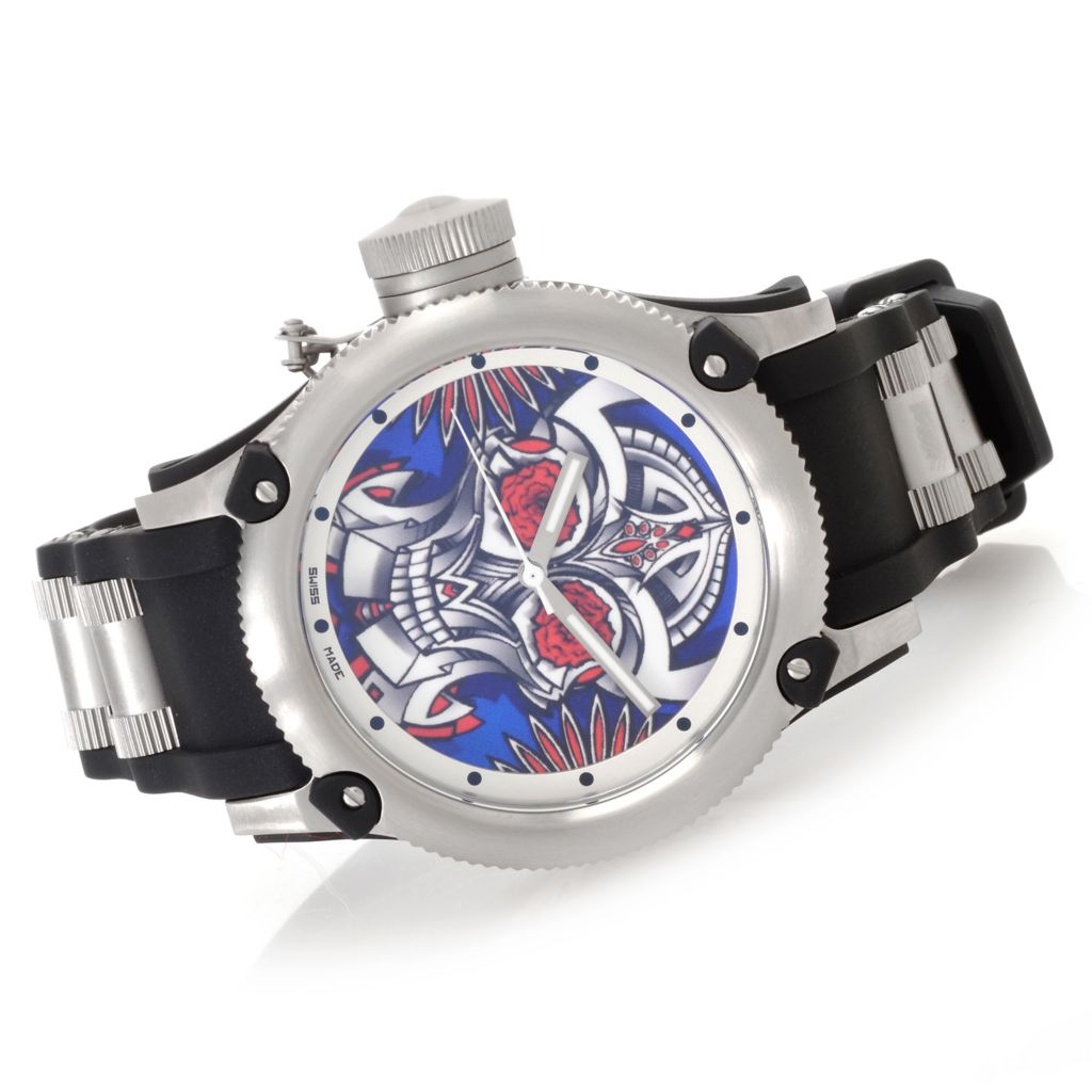 "627-495 - Invicta 41mm or 52mm Russian Diver ""Joy & Pride"" Swiss Made Strap Watch w/ Eight-Slot Dive Case"