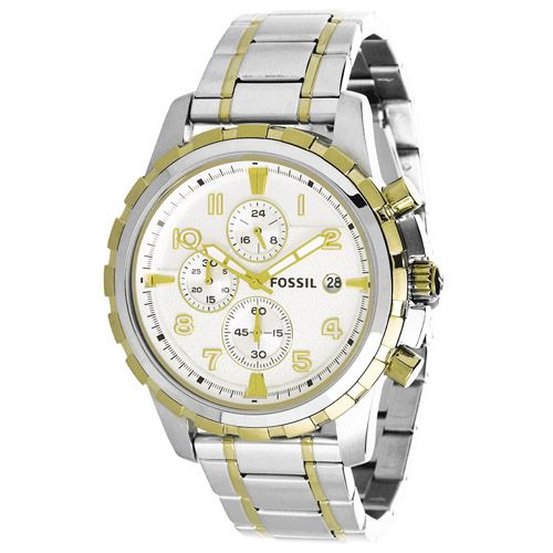 627-496 - Fossil 45mm Dean Quartz Chronograph Stainless Steel Bracelet Watch
