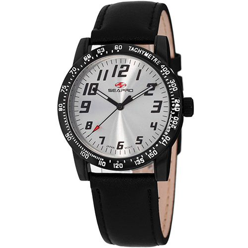 627-532 - Seapro Women's Bold Quartz Leather Strap Watch