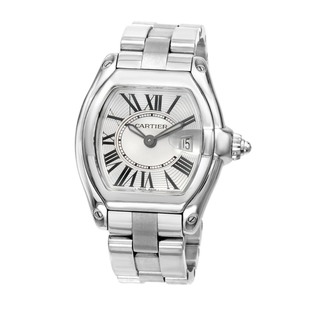 627-597 - Pre-Owned Cartier Women's Roadster Swiss Quartz Stainless Steel Bracelet Watch - 2675
