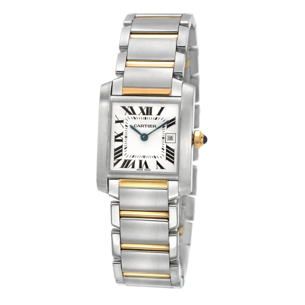 627-602 - Pre-Owned Cartier Women's 22mm Tank Francaise Swiss Quartz 18K Gold Bracelet Watch - 2465