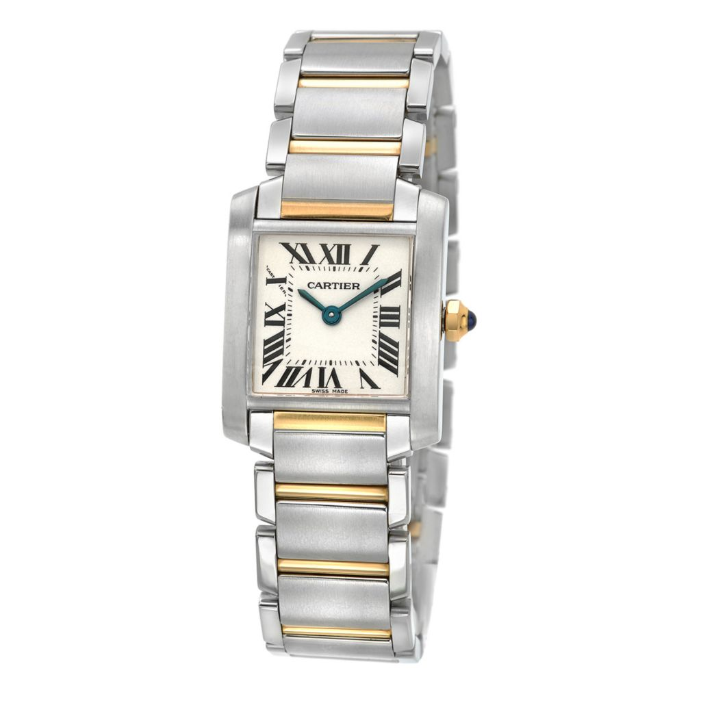 627-603 - Pre-Owned Cartier Women's 18mm Tank Francaise Swiss Quartz 18K Gold Bracelet Watch - 2384