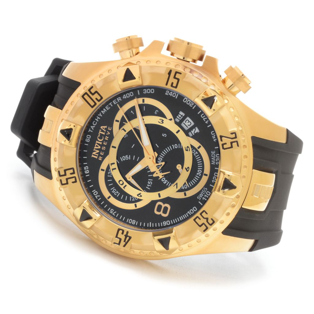 627-621 - Invicta Reserve 52mm Excursion Swiss Made Quartz Chronograph Polyurethane Strap Watch