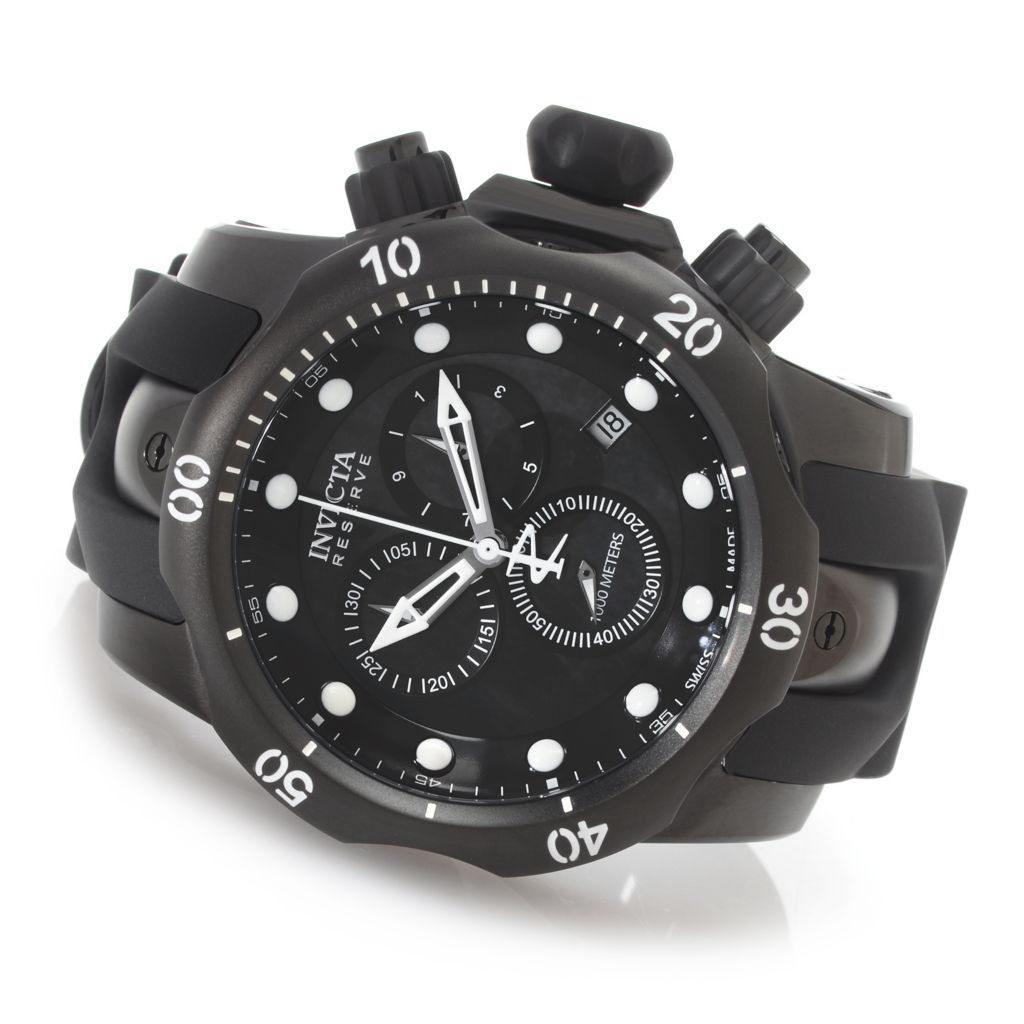 627-622 - Invicta Reserve 52mm Venom Swiss Made Quartz Chronograph Polyurethane Strap Watch