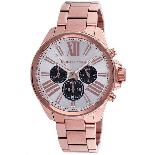 627-637 - Michael Kors Women's Wren Quartz Chronograph Stainless Steel Bracelet Watch