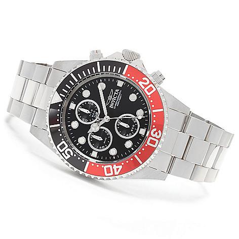 627-649 - Invicta 43mm Pro Diver Quartz Chronograph Stainless Steel Bracelet Watch w/ One-Slot Dive Case