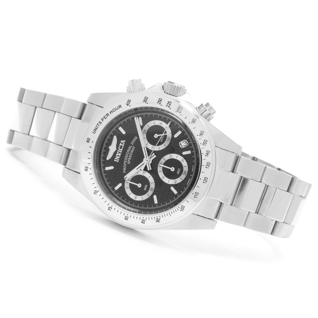 627-650 - Invicta 40mm Speedway Quartz Chronograph Stainless Steel Bracelet Watch w/ One-Slot Dive Case
