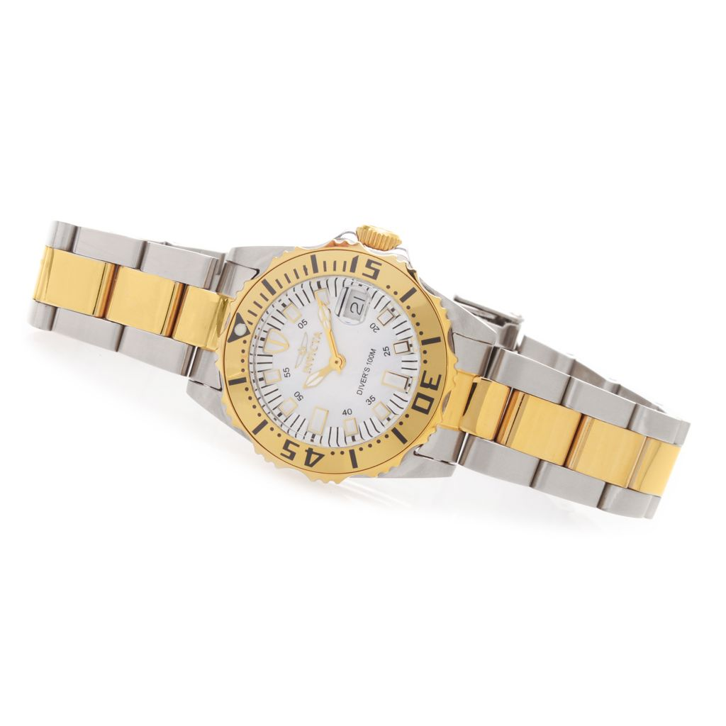 627-663 - Invicta Women's Pro Diver Abyss Mother-of-Pearl Stainless Steel Bracelet Watch