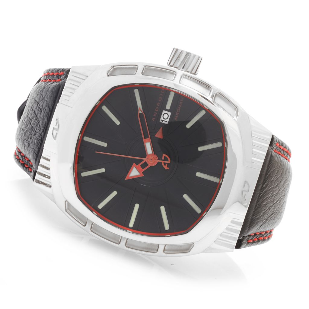 627-670 - Android Cocoon Automatic Multi Level Bezel Leather Strap Watch
