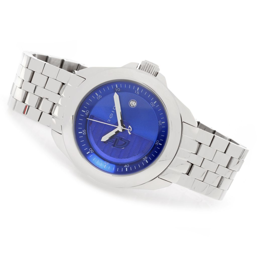 627-672 - Android 49mm Rotator Limited Edition Automatic Stainless Steel Bracelet Watch w/ 3-Slot Travel Case