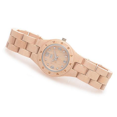 627-679 - WeWOOD Women's ''Moon Deneb'' Quartz Crystal Accented Bracelet Watch