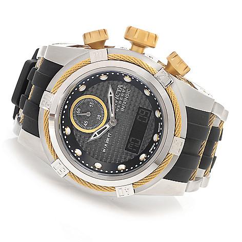 627-681 - Invicta Reserve 52mm Bolt Zeus Intrinsic Quartz Analog & Digital Polyurethane Strap Watch