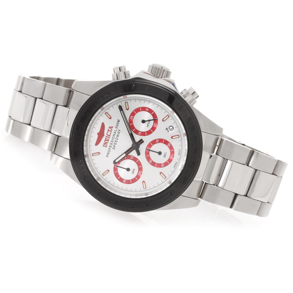 627-687 - Invicta 40mm Speedway Quartz Chronograph Bracelet Watch w/ Three-Slot Dive Case