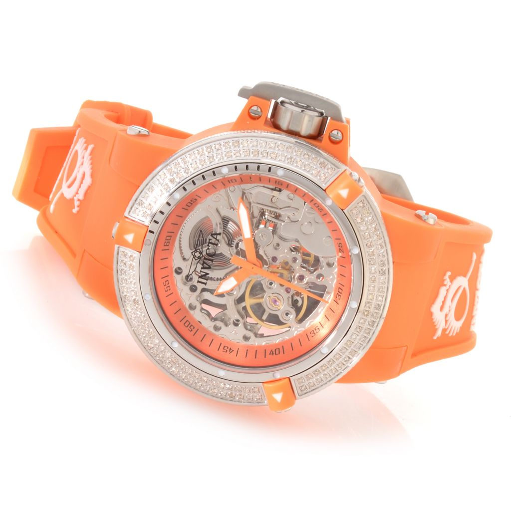627-724 - Invicta 42mm Subaqua Noma III Mechanical Diamond Accented Silicone Strap Watch