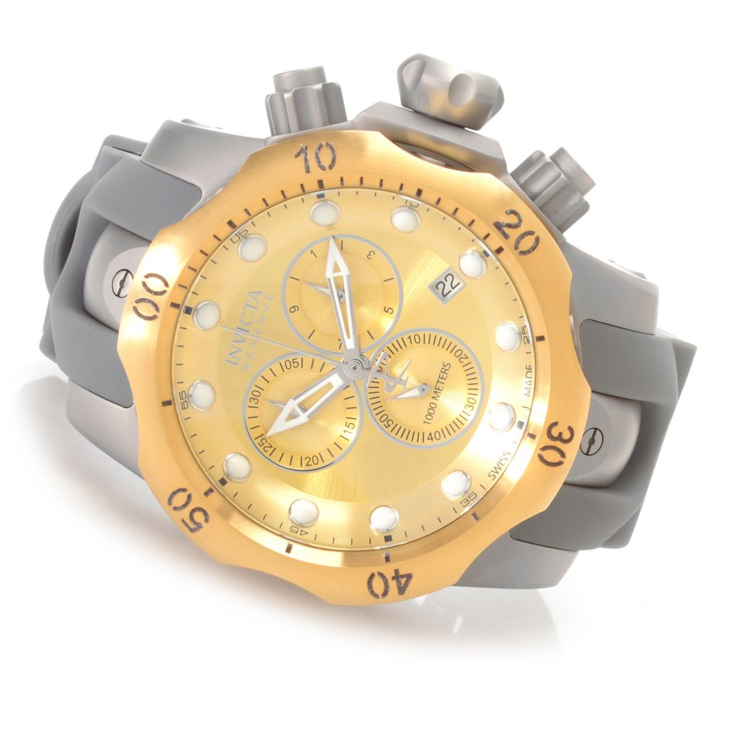 627-725 - Invicta Reserve 52mm Venom Swiss Made Quartz Chronograph Polyurethane Strap Watch