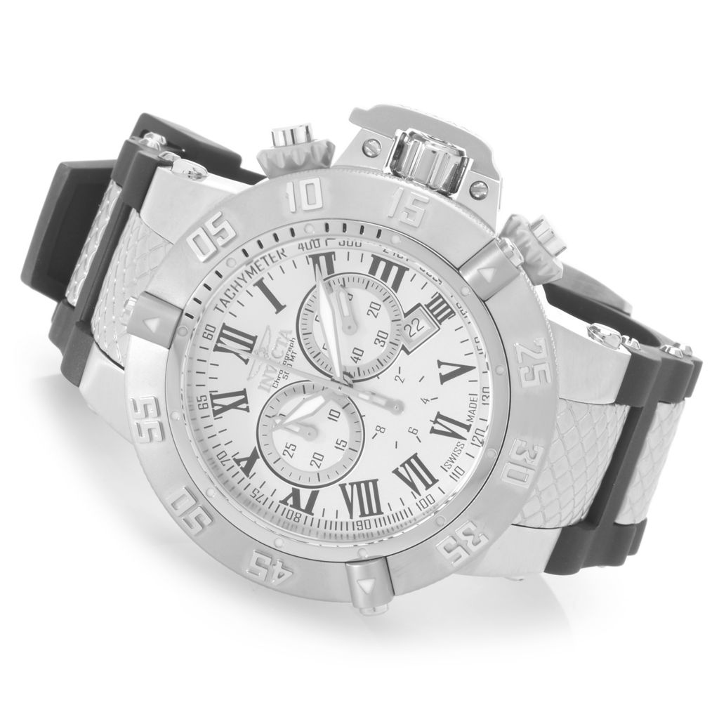627-730 - Invicta 42mm or 50mm Subaqua Noma III Swiss Chronograph Polyurethane Strap Watch