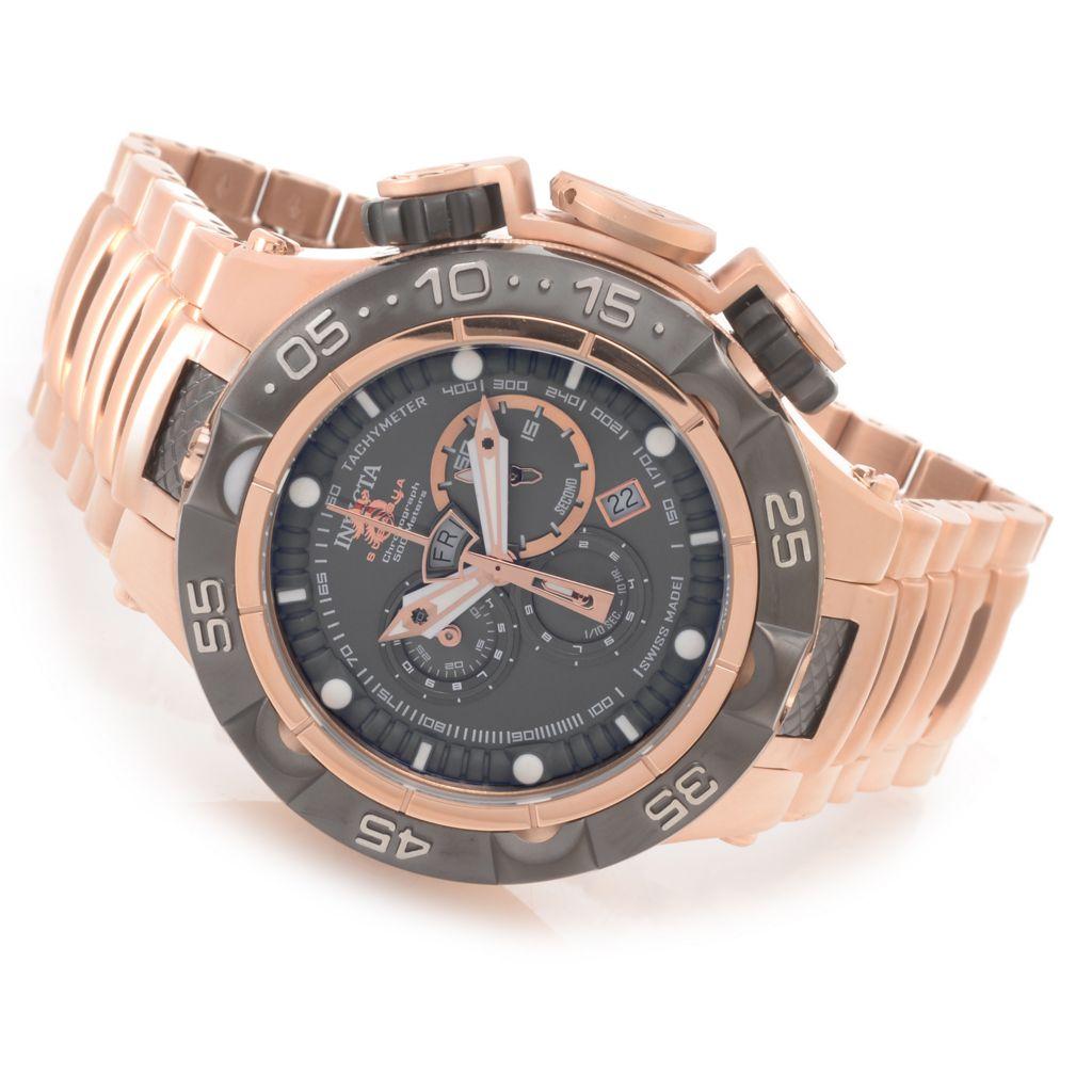 627-732 - Invicta 50mm Subaqua Noma V Swiss Made Quartz Chronograph Stainless Steel Bracelet Watch
