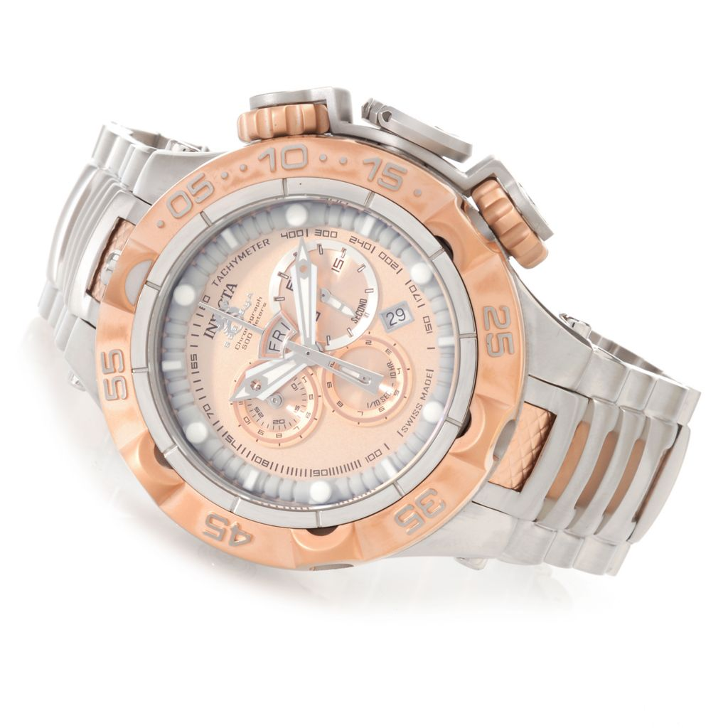 627-733 - Invicta 50mm Subaqua Noma V Swiss Made Quartz Chronograph Stainless Steel Bracelet Watch