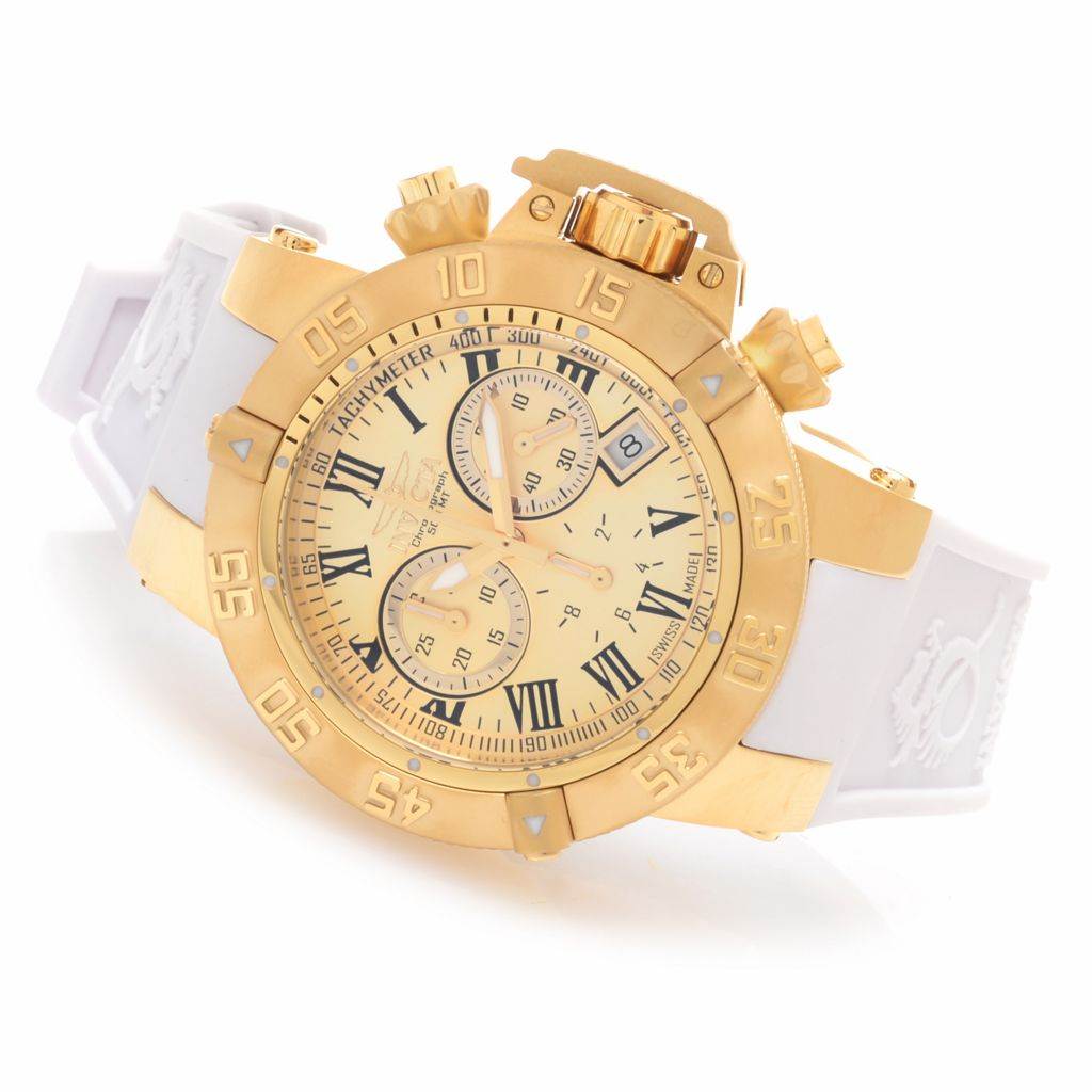 627-735 - Invicta 42mm or 50mm Subaqua Noma III Swiss Chronograph Silicone Strap Watch