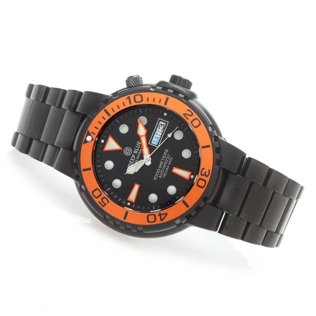 627-737 - Deep Blue 46mm Sun Diver III Automatic Stainless Steel Bracelet Watch