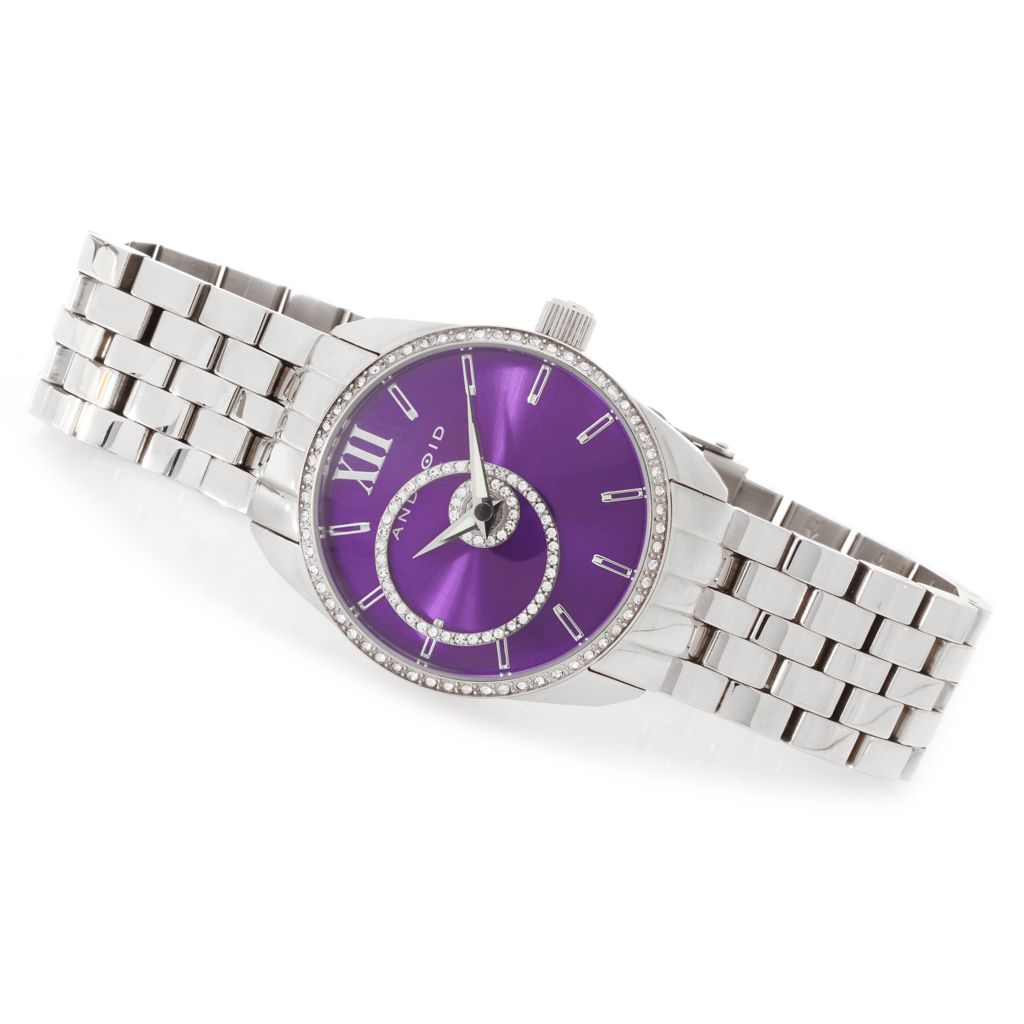 627-753 - Android Women's StarHalo Quartz Stainless Steel Bracelet Watch Made w/ Swarovski® Elements