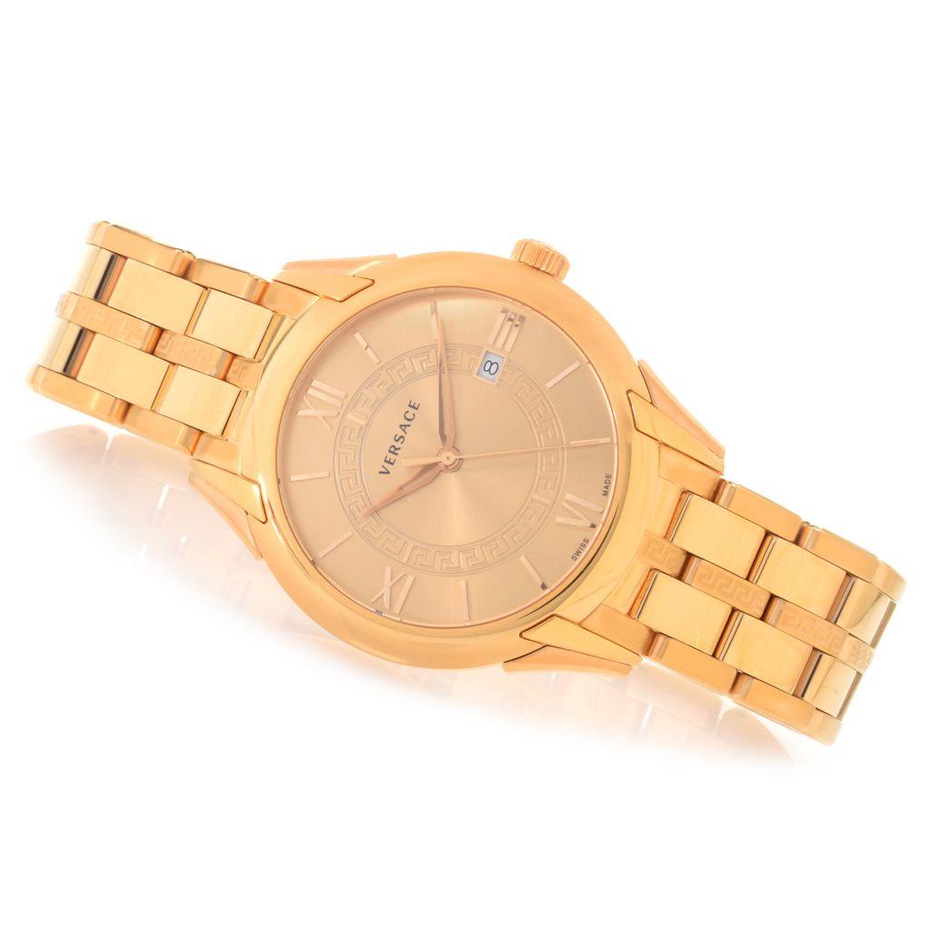 627-754 - Versace 42mm Apollo Swiss Made Quartz Stainless Steel Bracelet Watch