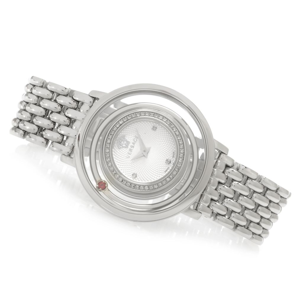 627-763 - Versace Women's Venus Swiss Made Quartz Diamond Accented Bracelet Watch
