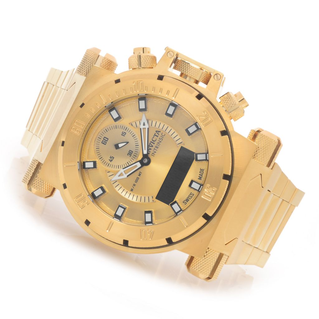 627-773 - Invicta 51mm Intrinsic Coalition Forces Analog & Digital Stainless Steel Bracelet Watch