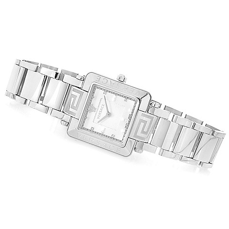 627-782 - Versace Women's Reve Swiss Made Quartz Diamond Accented Stainless Steel Bracelet Watch