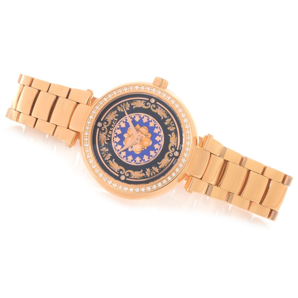 627-787 - Versace Women's Mystique Foulard Swiss Made Quartz 0.47ctw Diamond Bracelet Watch