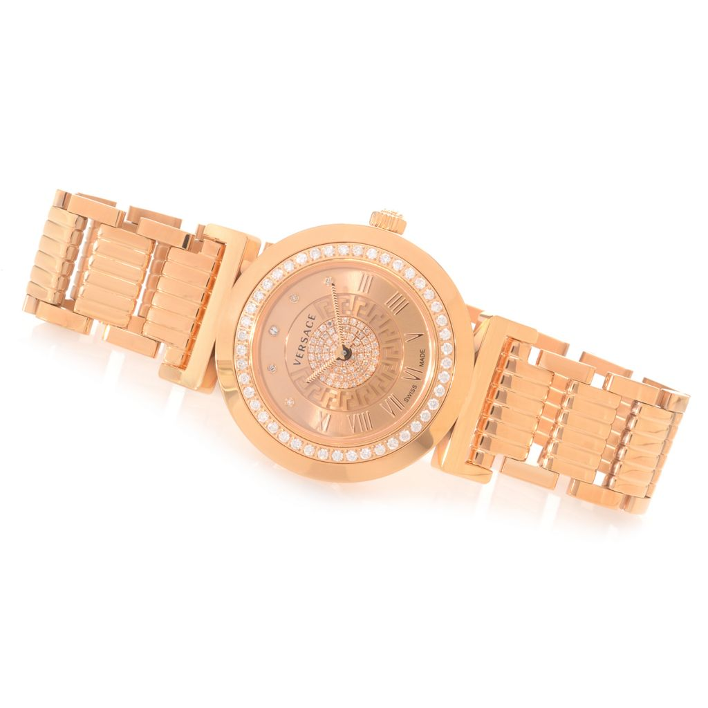 627-788 - Versace Women's Vanity Swiss Made Quartz 0.98ctw Diamond Bracelet Watch