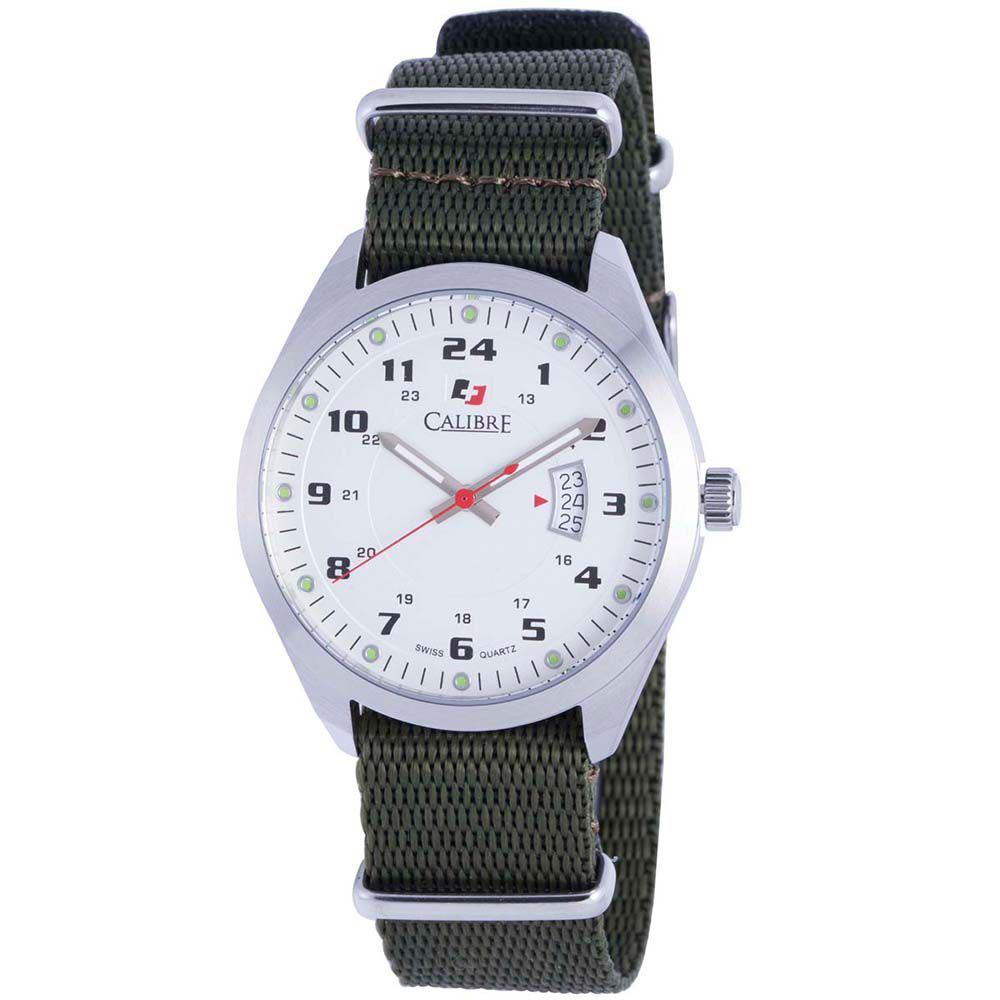 627-800 - Calibre 40mm Trooper Swiss Quartz Canvas Strap Watch