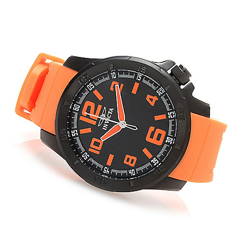 627-812 - Invicta 48mm Specialty Sport Quartz Polyurethane Strap Watch w/ One-Slot Dive Case