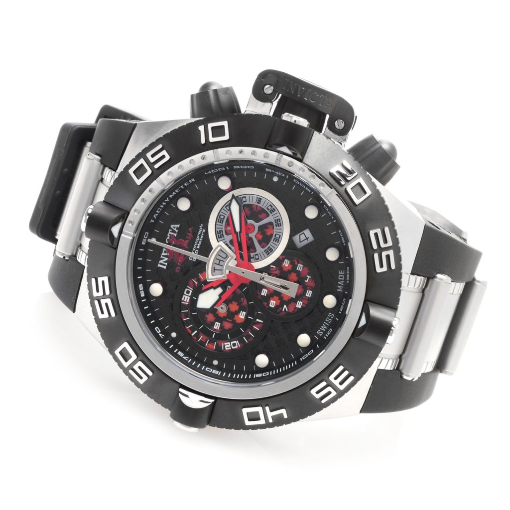 627-817 - Invicta 50mm Subaqua Noma IV Swiss Chronograph Polyurethane Strap Watch w/ Three-Slot Dive Case