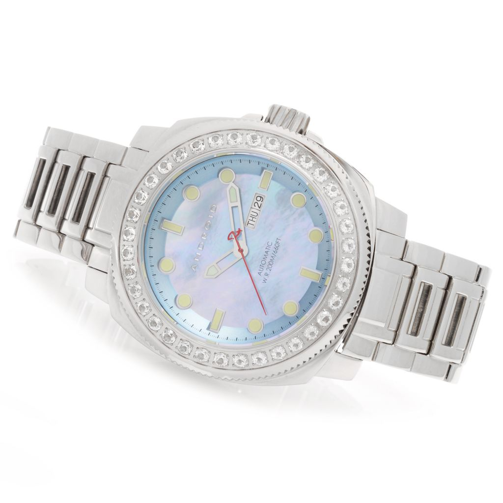 627-829 - Android 55mm Parma Limited Edition Automatic Gemstone Accented Bracelet Watch