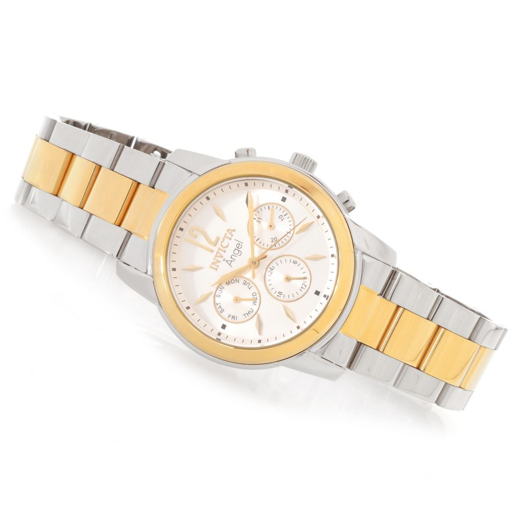 627-854 - Invicta Women's Angel Quartz Multi Function Stainless Steel Bracelet Watch