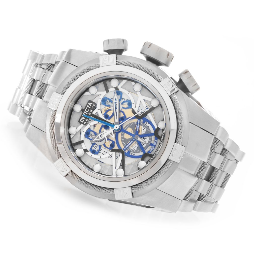 627-855 - Invicta Reserve 52mm Bolt Zeus Swiss Made COSC Bracelet Watch w/ Eight-Slot Dive Case