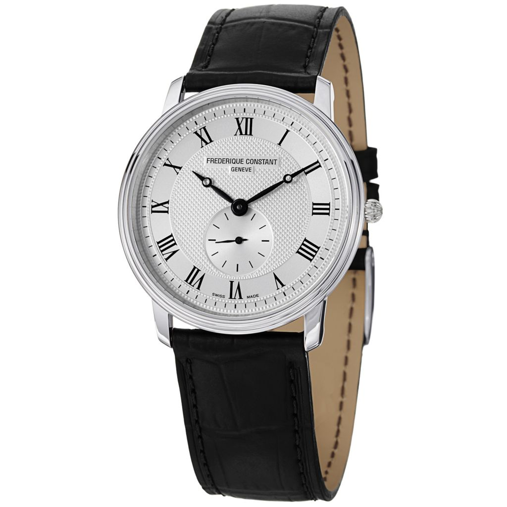 627-865 - Frederique Constant Women's Slim Line Swiss Quartz Leather Strap Watch - FC-235M4S6