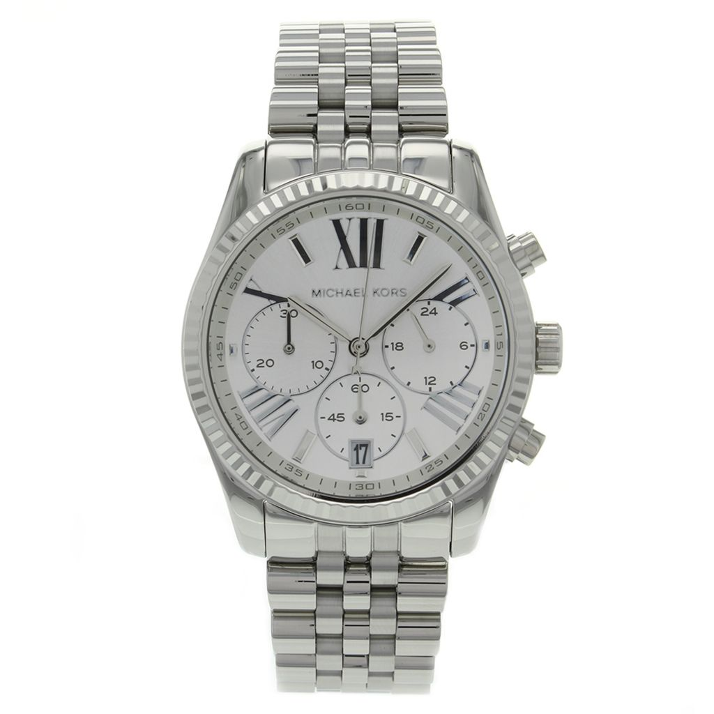 627-888 - Michael Kors 38mm Lexington Quartz Stainless Steel Bracelet Watch