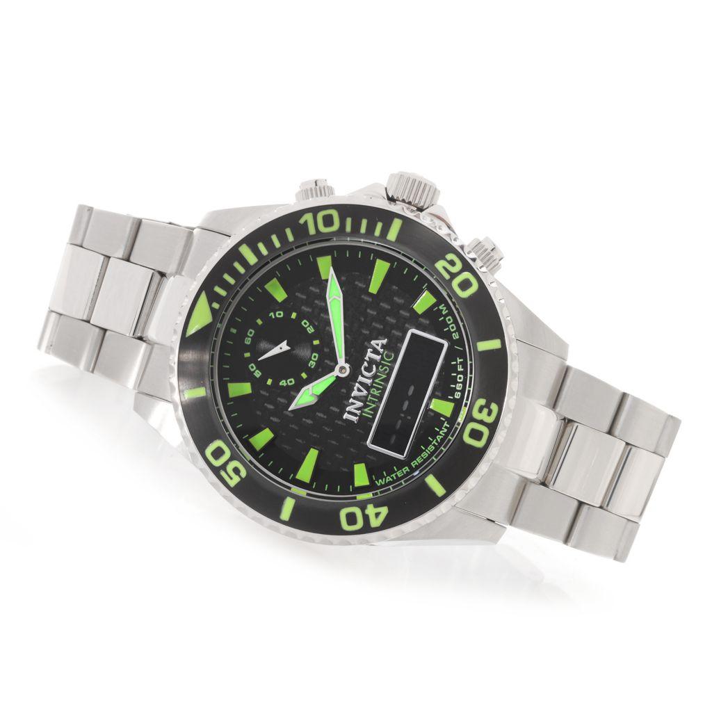 627-915 - Invicta 47mm Pro Diver Intrinsic Quartz Analog & Digital Stainless Steel Bracelet Watch