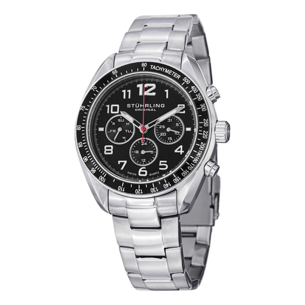 627-931 - Stührling Original 40mm Concorso Dragster Quartz Stainless Steel Bracelet Watch
