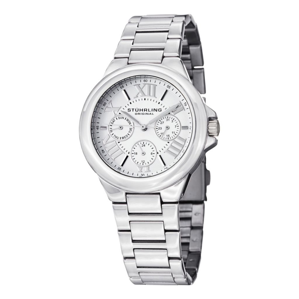 627-938 - Stührling Original Women's Lady Pontiff Quartz Stainless Steel Bracelet Watch