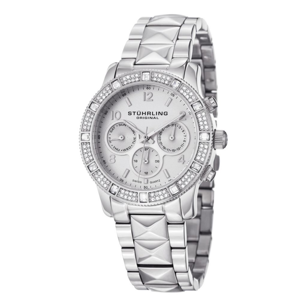 627-942 - Stührling Original Women's Lady Nobilis Swiss Quartz Stainless Steel Bracelet Watch