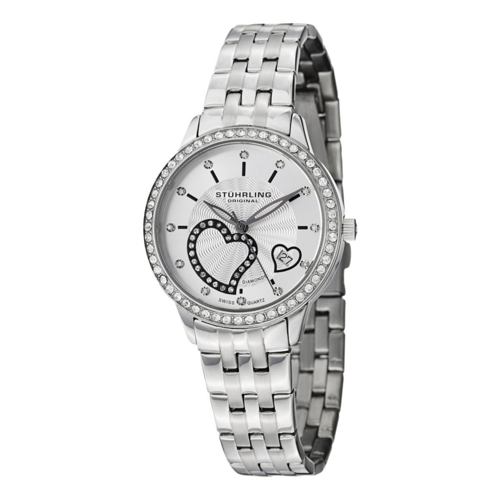 627-943 - Stührling Original Women's Aphrodite Swiss Quartz Stainless Steel Bracelet Watch