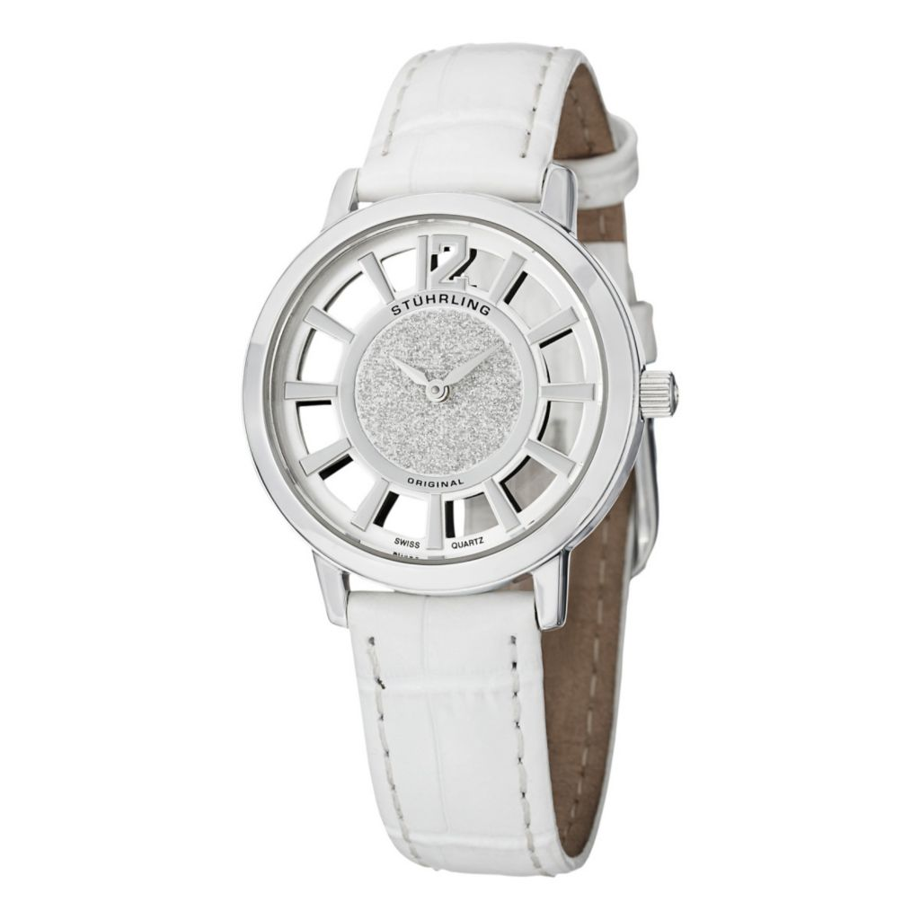627-946 - Stührling Original Women's Lady Edinburgh Swiss Quartz Leather Strap Watch