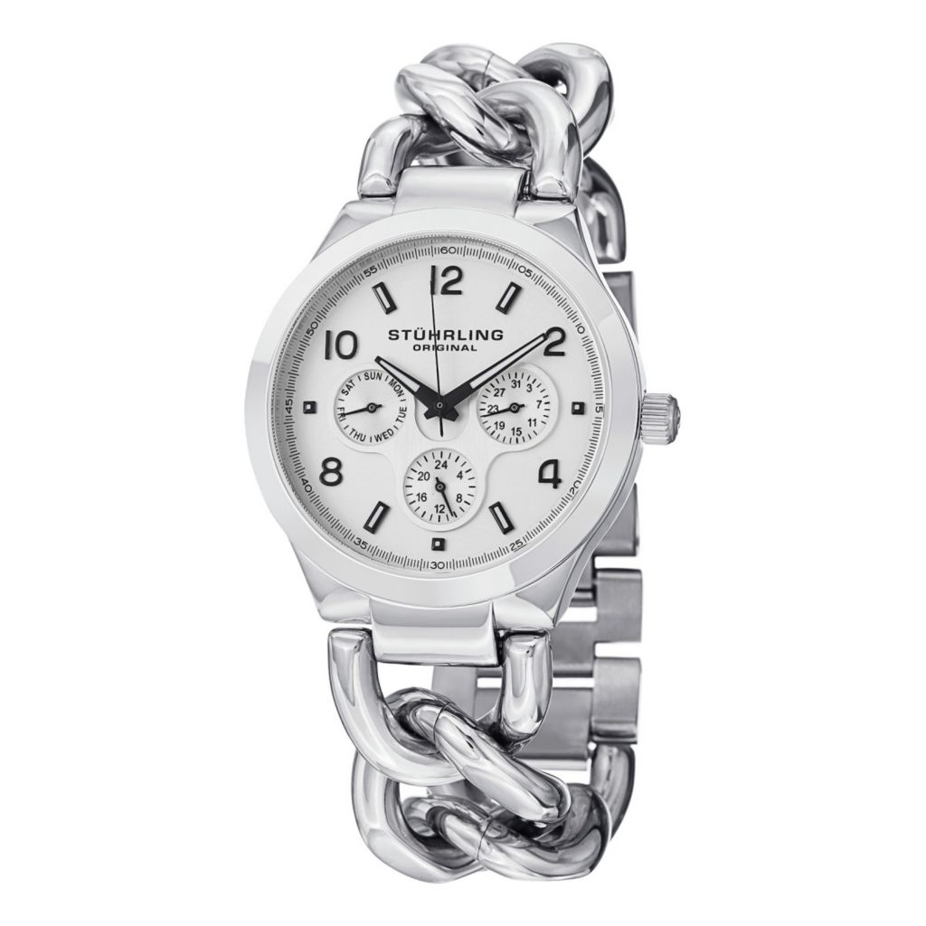627-955 - Stührling  Original Women's Lady Renoir Quartz Stainless Steel Bracelet Watch