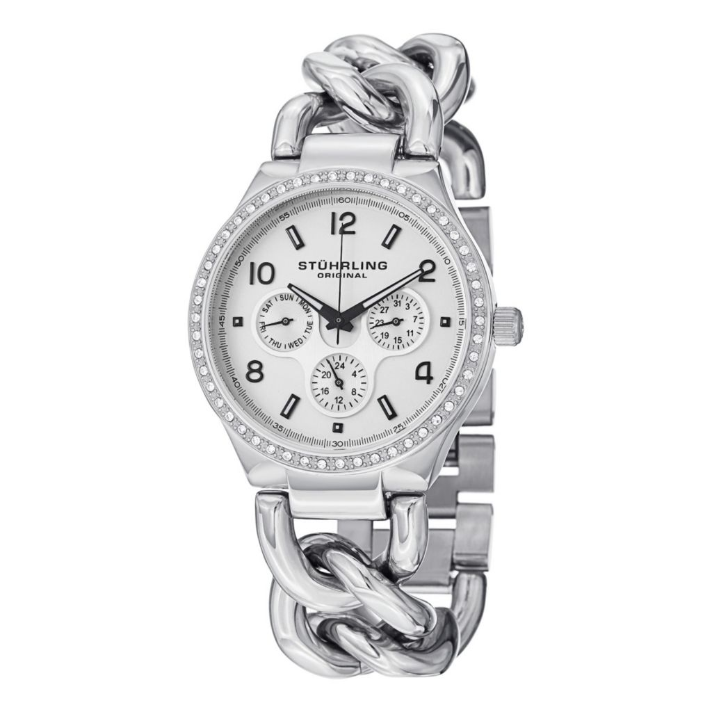 627-956 - Stührling Original Women's Lady Renoir Shine Quartz Stainless Steel Bracelet Watch