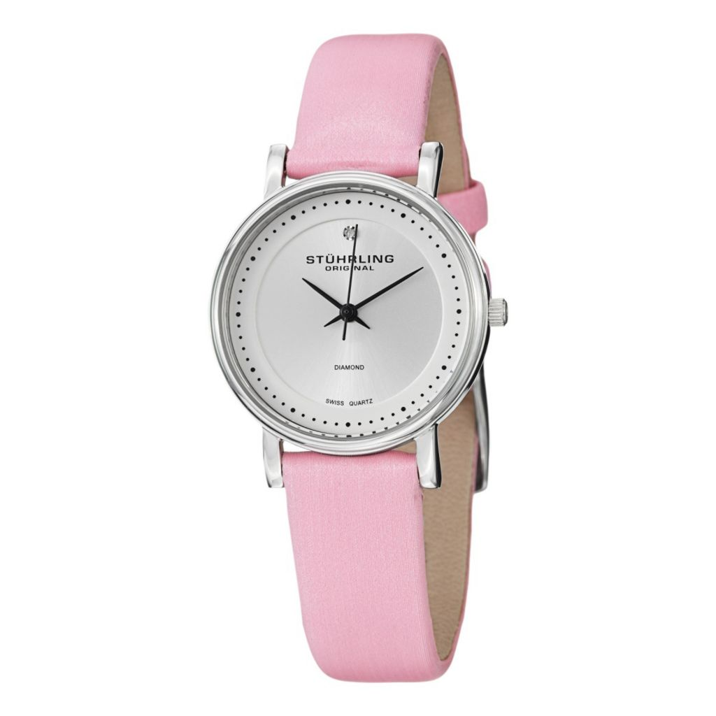 627-959 - Stührling Original Women's Lady Castorra Swiss Quartz Leather Strap Watch