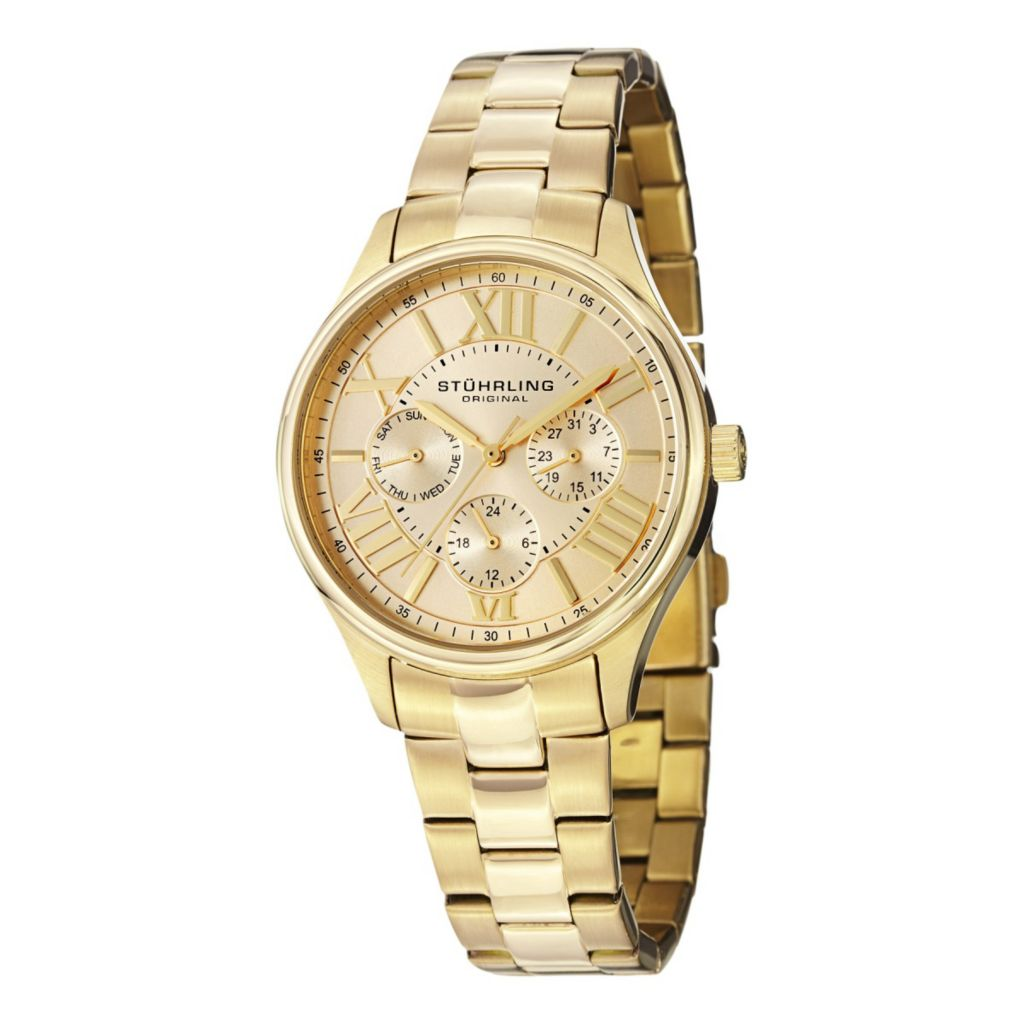 627-965 - Stührling Original Women's Lady Majestic Quartz Stainless Steel Bracelet Watch