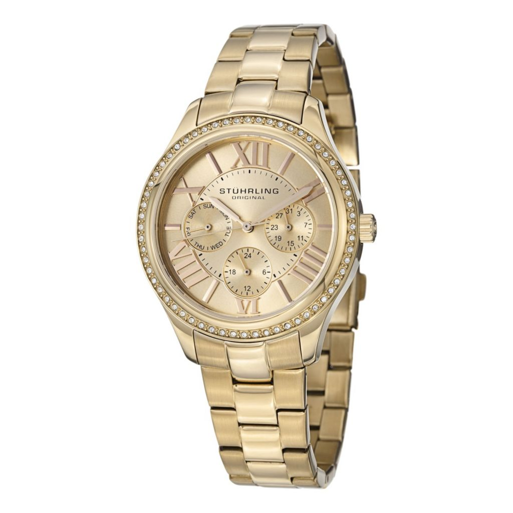 627-966 - Stührling Original Women's Lady Majestic Se Quartz Stainless Steel Bracelet Watch